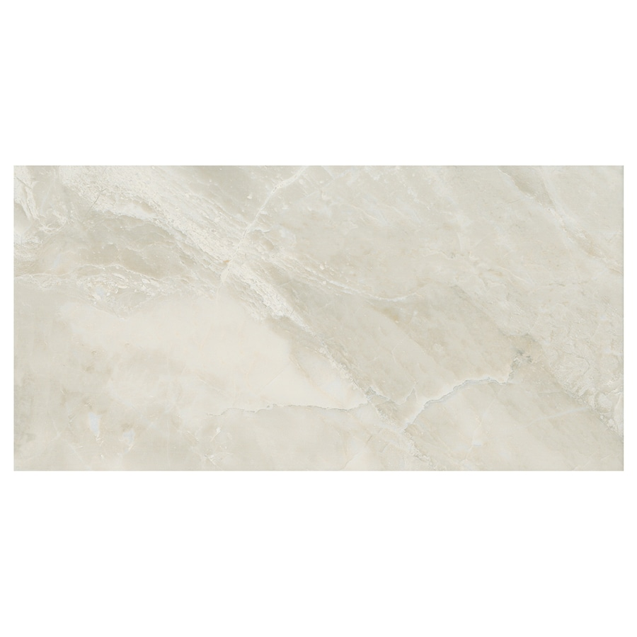 American Olean Mirasol 8-Pack Silver Marble Porcelain Floor and Wall Tile (Common: 12-in x 24-in; Actual: 23.44-in x 11.62-in)