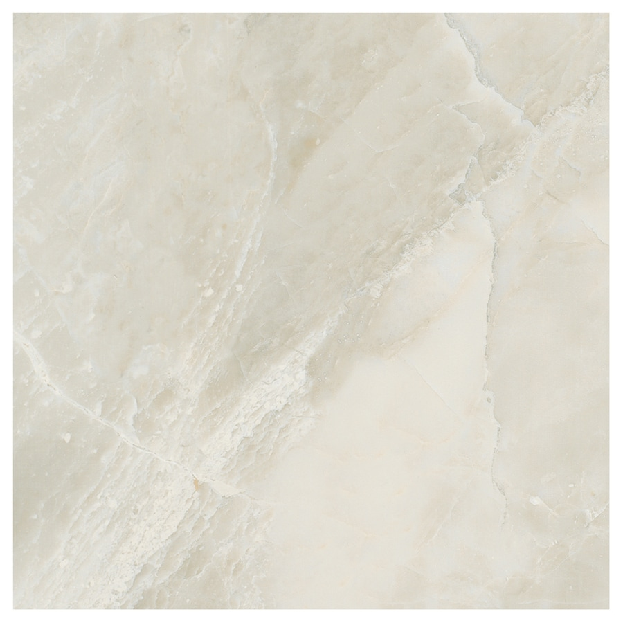 American Olean Mirasol 13-Pack Silver Marble Porcelain Floor and Wall Tile (Common: 12-in x 12-in; Actual: 11.5-in x 11.5-in)