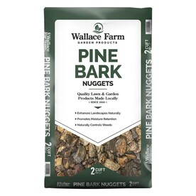 Wallace Farm 2 Cu Ft Brown Pine Bark Mini Nuggets In The Bagged Mulch Department At Lowes Com