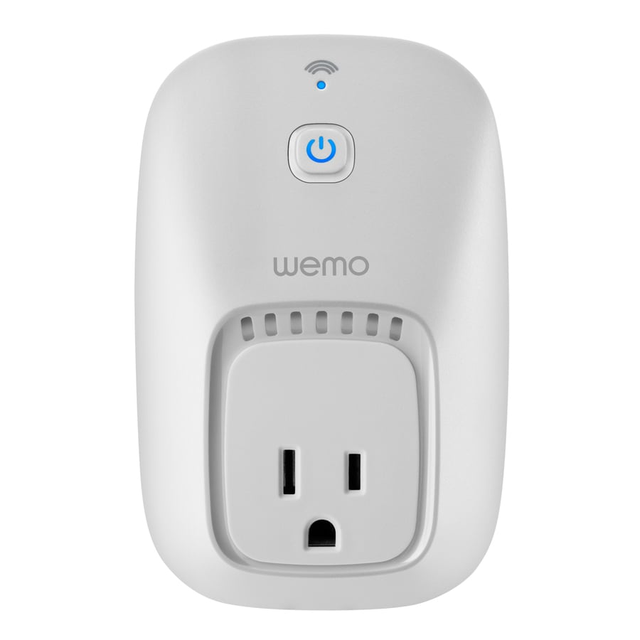 WeMo 120-Volt White Smart Plug Works with Amazon Alexa