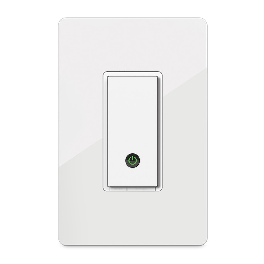 Shop wemo 15 amp single pole wireless white remote control indoor wemo 15 amp single pole wireless white remote control indoor light switch aloadofball