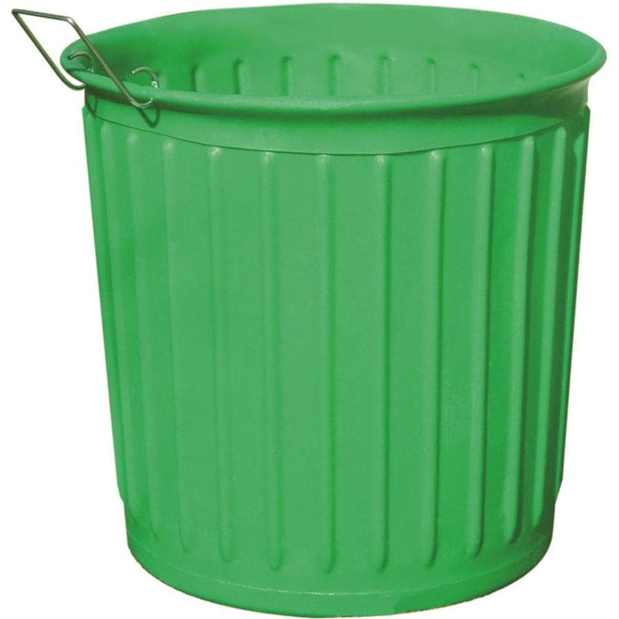 Carry Barrel 60 Gallon Green Outdoor Garbage Can At Lowes Com