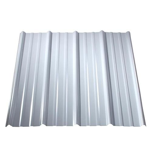 Metal Sales Classic Rib 3 Ft X 12 Ft Ribbed White Metal