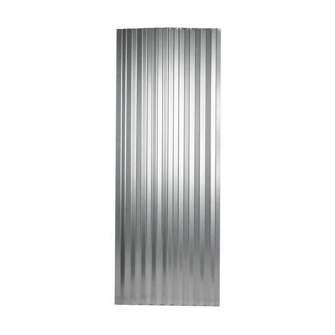 Metal Sales 2 Ft X 12 Ft Corrugated Silver Steel Roof Panel In The Roof Panels Department At Lowes Com