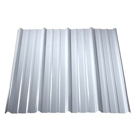 Metal Sales Classic Rib 3 Ft X 8 Ft Ribbed Polar White Metal Roof Panel In The Roof Panels Department At Lowes Com