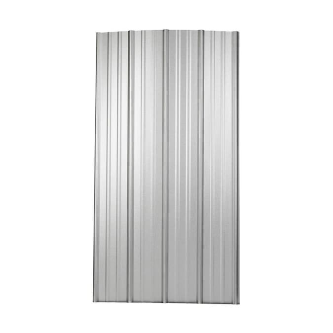 Metal Sales 3 Ft X 12 Ft Ribbed Silver Steel Roof Panel In The Roof Panels Department At Lowes Com