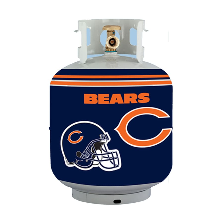 Bottle Skinz 16-in H x 34-in dia Navy Polyester Chicago Bears Propane Tank Cover