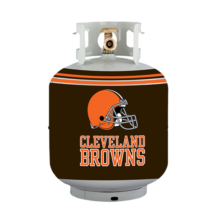 Bottle Skinz 16-in H x 34-in dia Orange Polyester Cleveland Browns Propane Tank Cover