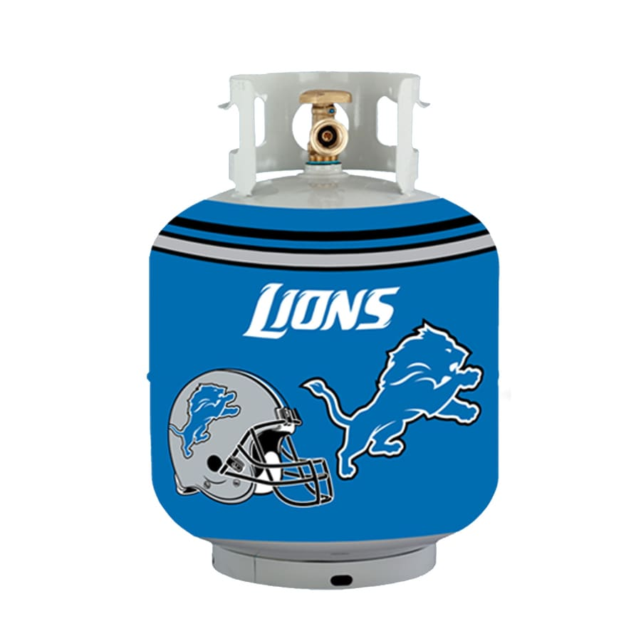 Bottle Skinz 16-in H x 34-in dia Blue Polyester Detroit Lions Propane Tank Cover