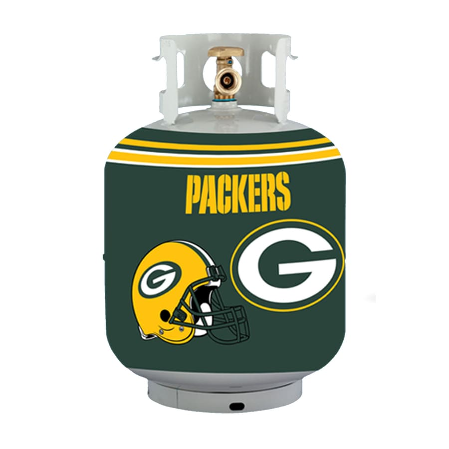 Bottle Skinz 16-in H x 34-in dia Green Polyester Green Bay Packers Propane Tank Cover