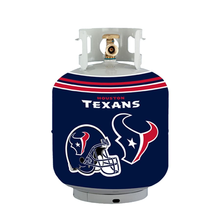 Bottle Skinz 16-in H x 34-in dia Navy Polyester Houston Texans Propane Tank Cover
