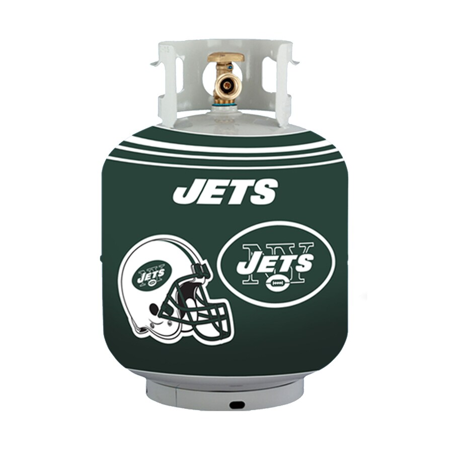 Bottle Skinz 16-in H x 34-in dia Green Polyester New York Jets Propane Tank Cover