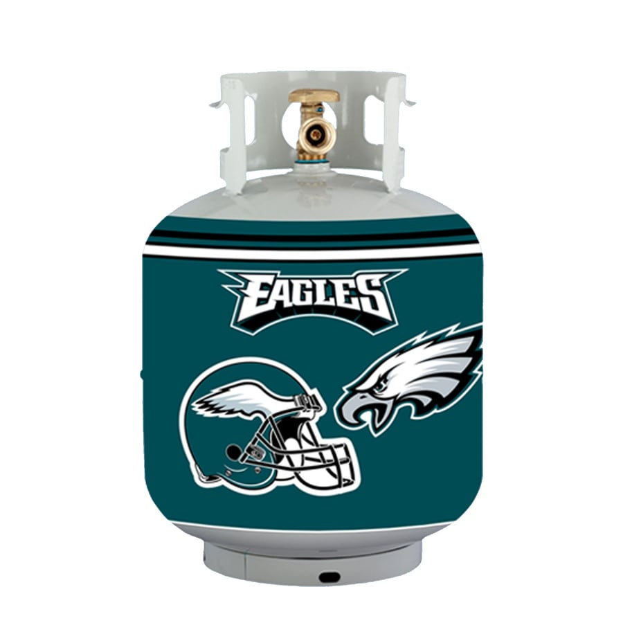 Bottle Skinz 16-in H x 34-in dia Green Polyester Philadelphia Eagles Propane Tank Cover