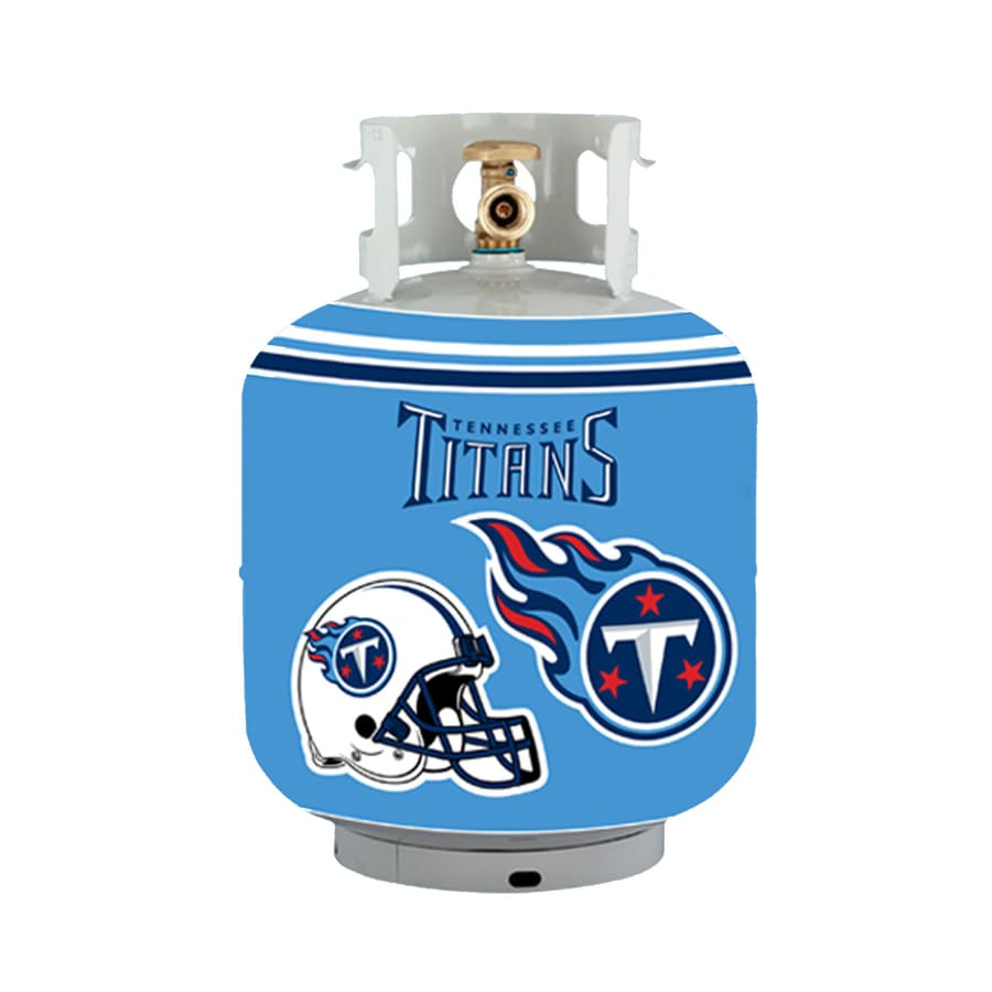 Bottle Skinz 16-in H x 34-in dia Blue Polyester Tennessee Titans Propane Tank Cover