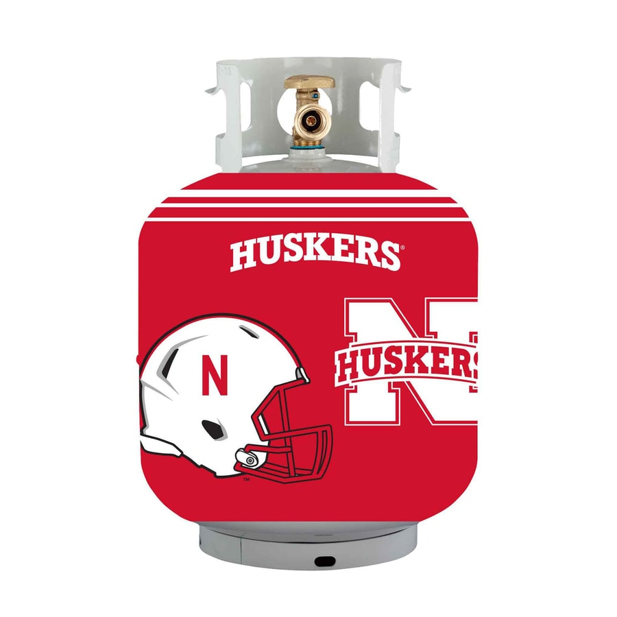 Bottle Skinz 16-in H x 34-in dia Red Polyester Nebraska Cornhuskers Propane Tank Cover