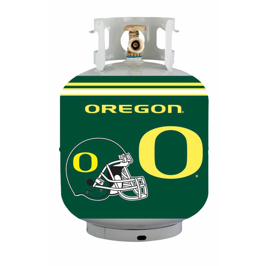 Bottle Skinz 16-in H x 34-in dia Green Polyester Oregon Ducks Propane Tank Cover