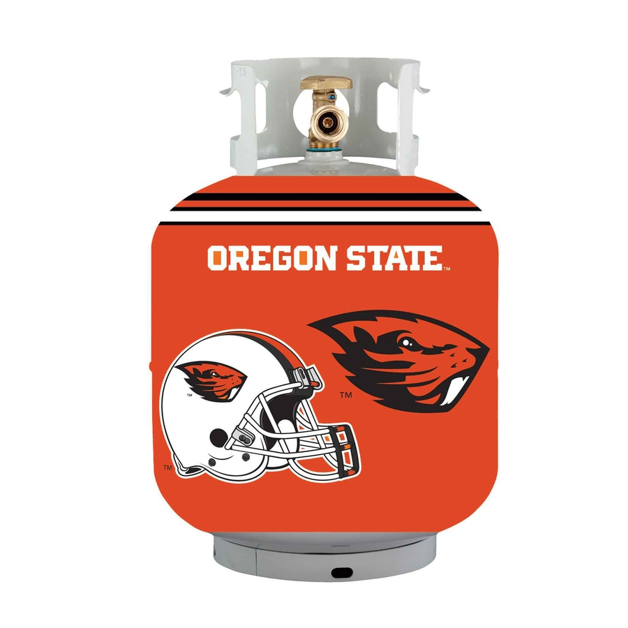 Bottle Skinz 16-in H x 34-in dia Orange Polyester Oregon State Beavers Propane Tank Cover