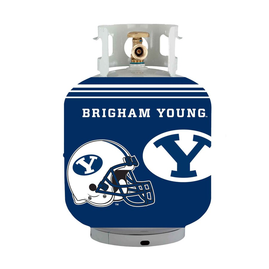 Bottle Skinz 16-in H x 34-in dia Blue Polyester Byu Cougars Propane Tank Cover