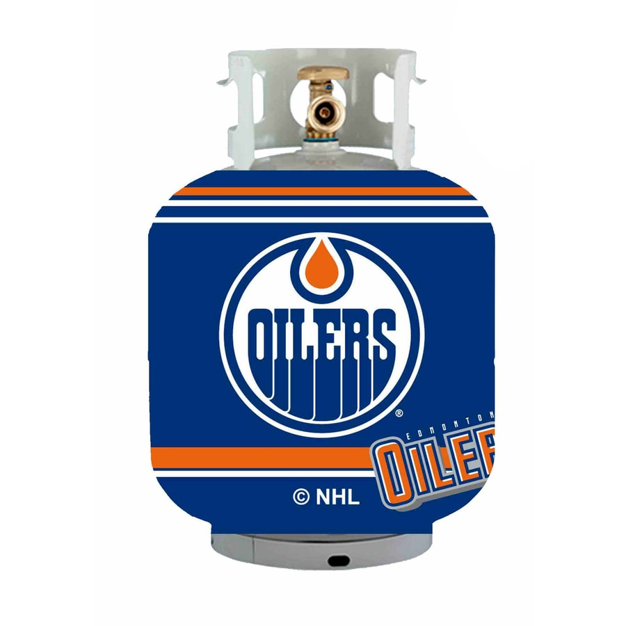 Bottle Skinz 16-in H x 34-in dia Blue Polyester Edmonton Oilers Propane Tank Cover