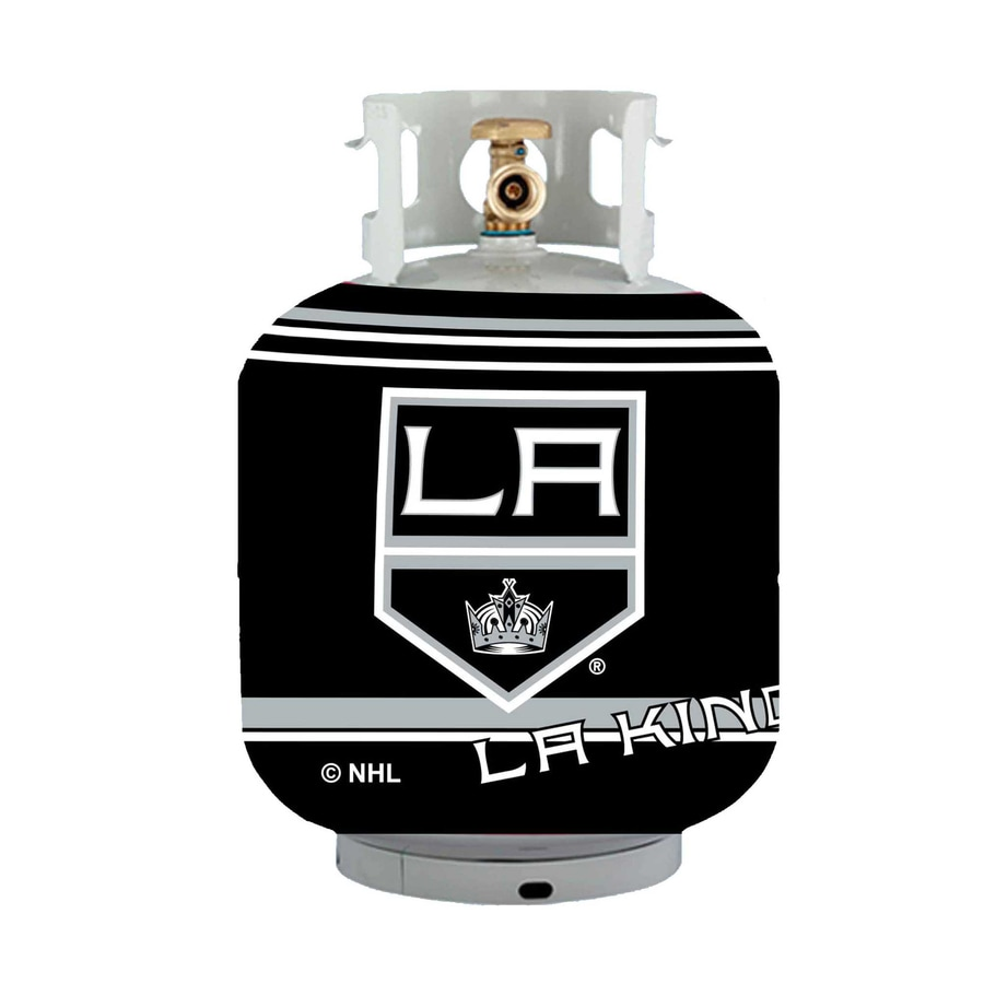 Bottle Skinz 16-in H x 34-in dia Black Polyester Los Angeles Kings Propane Tank Cover