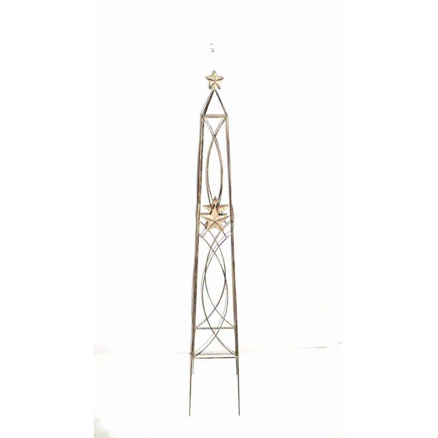 Garden Treasures 48-in H Star Obelisk Garden Statue