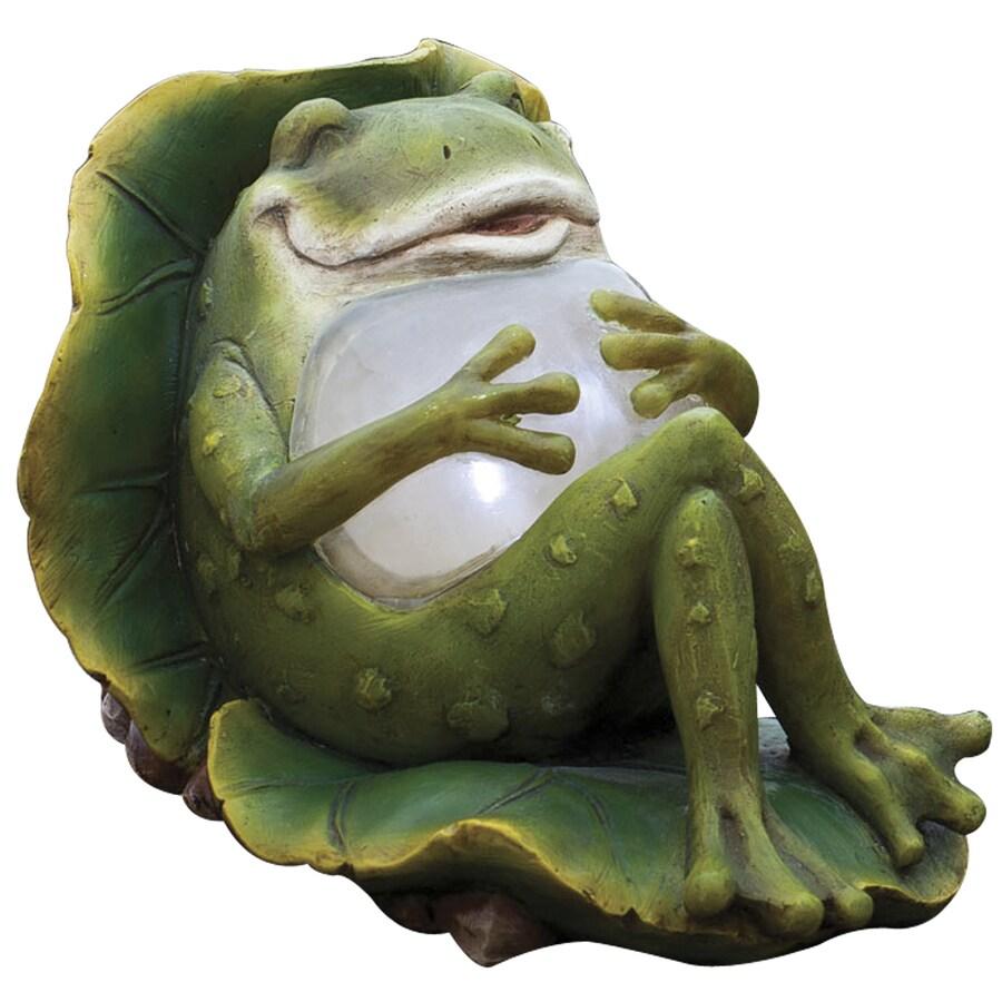 Garden Treasures 8.86 In H Lounging Frog Garden Statue