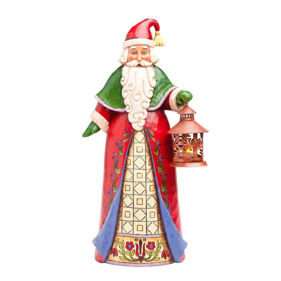 Jim Shore Christmas Resin Santa with Lantern