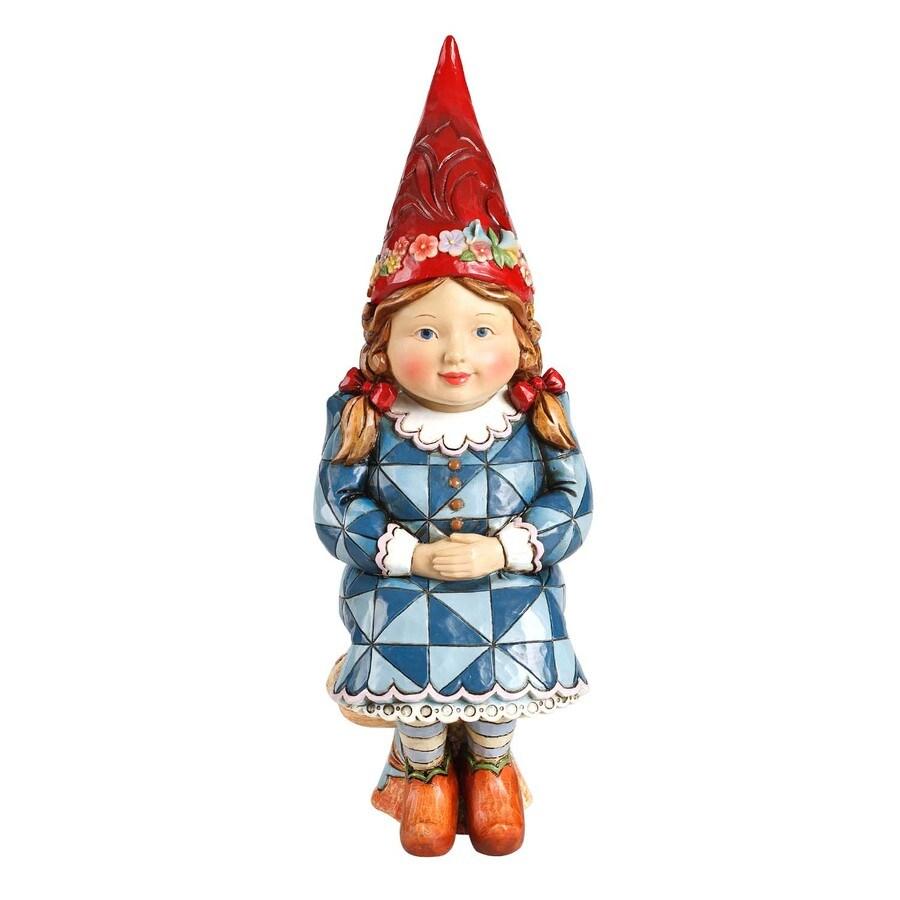 Jim S 12 In H Girl Gnome On Mushroom Garden Statue ...