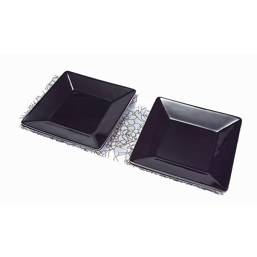 Style Selections 1.38-in x 19.5-in Multicolor Resin Rectangle Serving Platter (4-Plate Set)