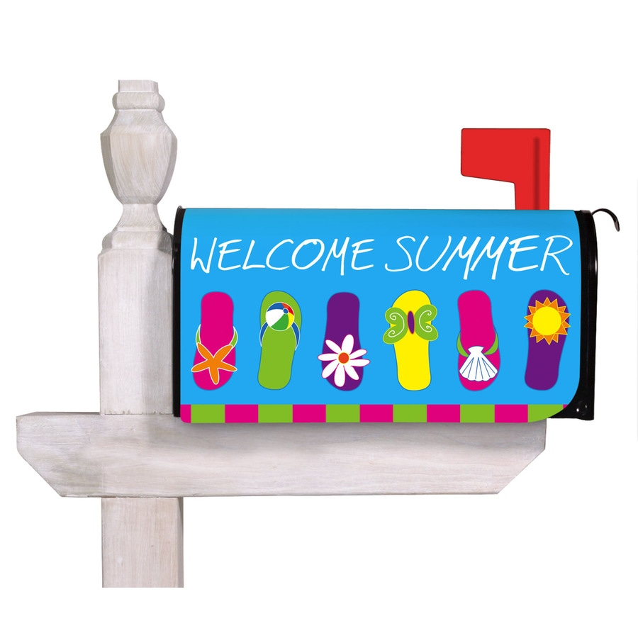 Shop evergreen flip flop welcome mailbox cover at for Evergreen shop