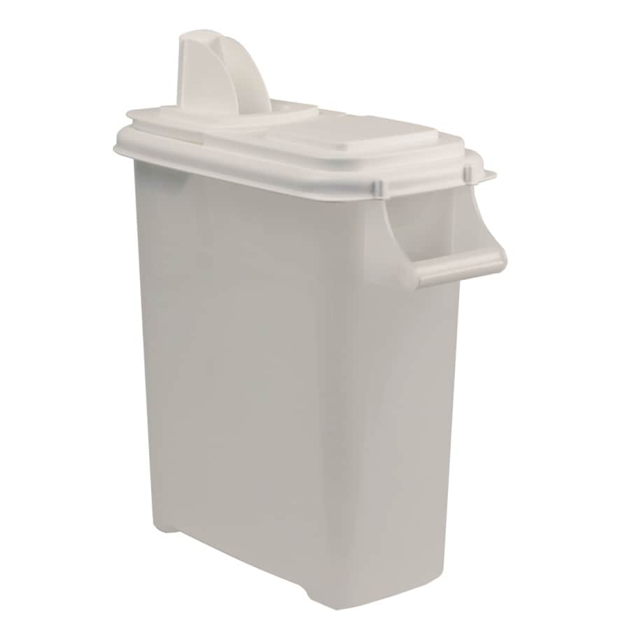 Garden Treasures 40-lb White Lid and Clear Container Plastic Bird Feeder Seed Container