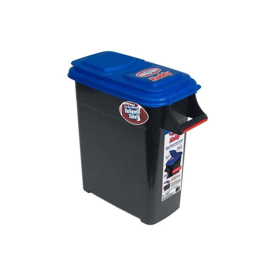 Buddeez Kingsford 32-Quart Black Charcoal Caddy with Standard Snap Lid