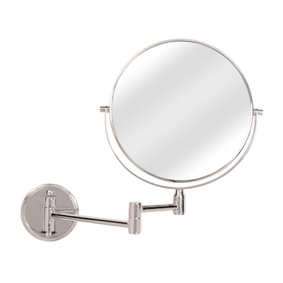 Chrome Zinc Magnifying Wall Mounted Vanity Mirror