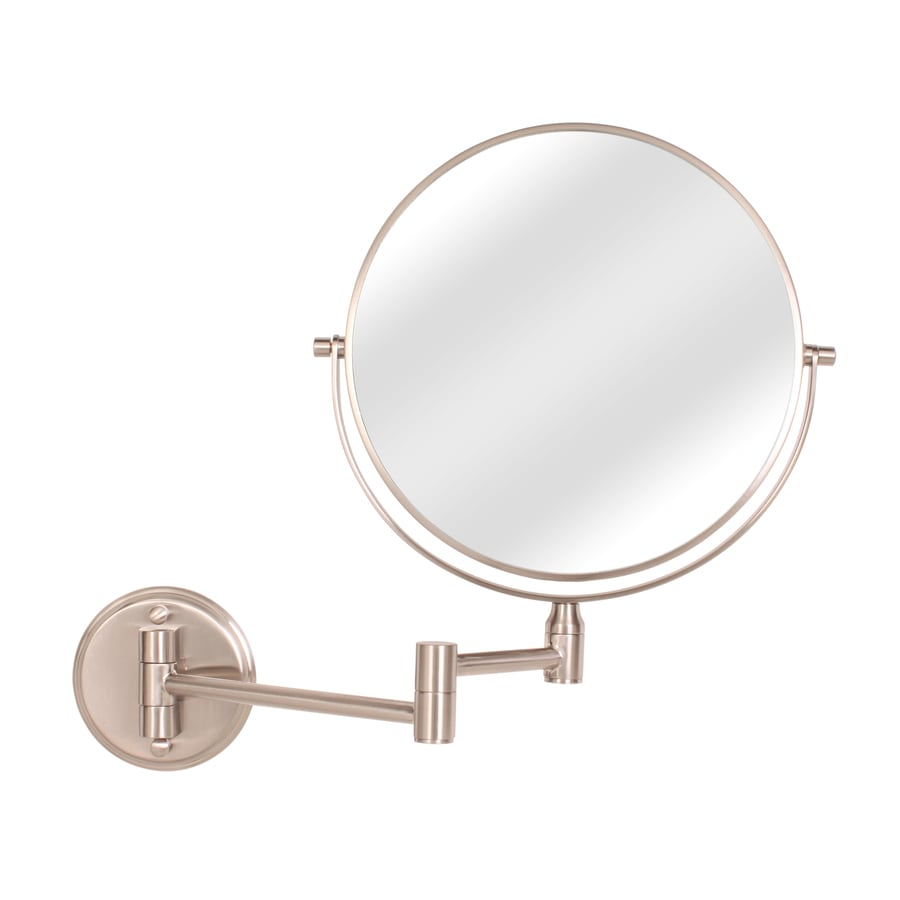Wall Mount Vanity Mirror shop giagni stainless steel zinc magnifying wall-mounted vanity