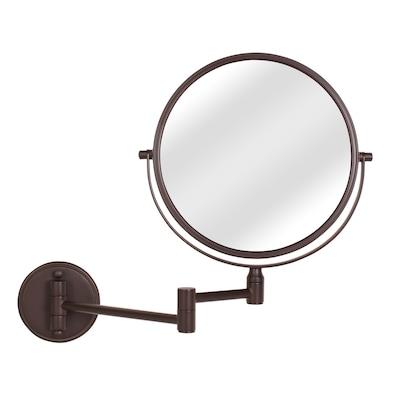 Bronze Zinc Magnifying Wall Mounted Vanity Mirror