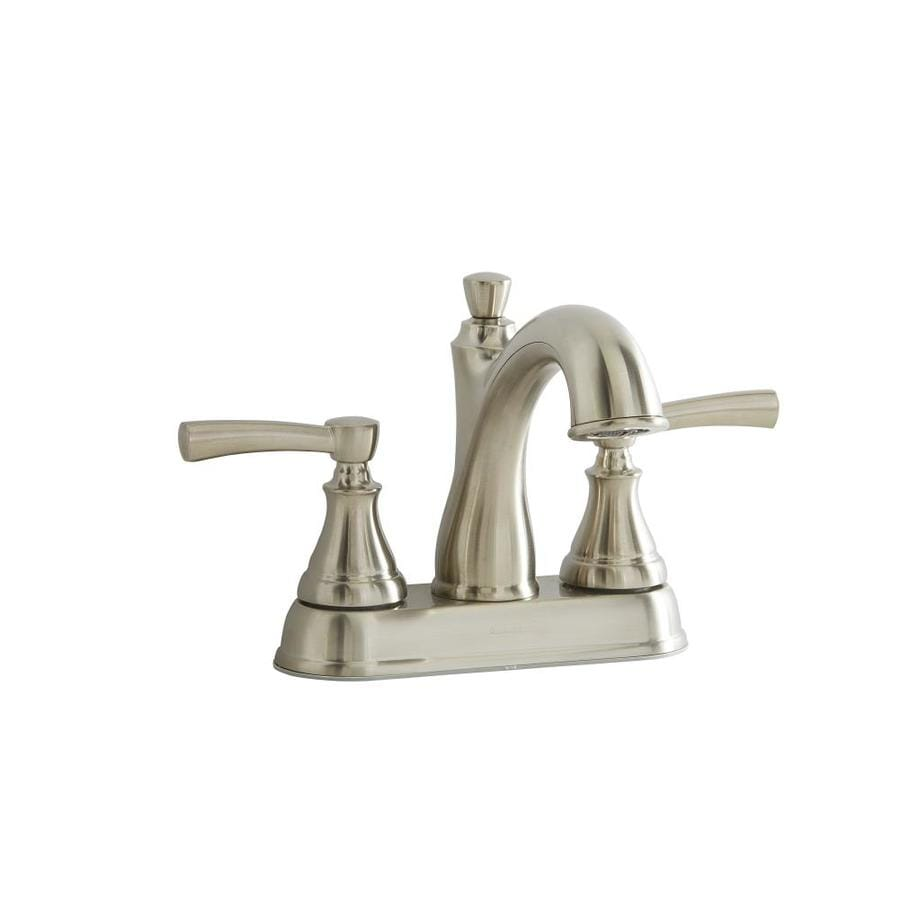 Giagni Mitchell Brushed Nickel 2-Handle 4-in Centerset WaterSense Bathroom Faucet with Drain