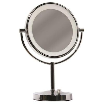 Giagni Vernon Chrome Zinc Magnifying Countertop Vanity
