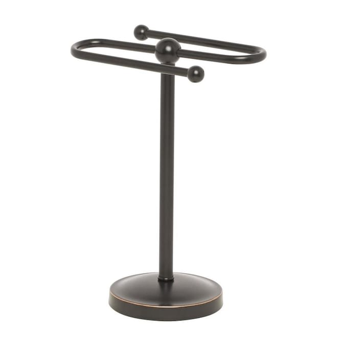 Giagni Vernon Oil Rubbed Bronze Freestanding Towel Rack In The Towel Racks Department At Lowes Com