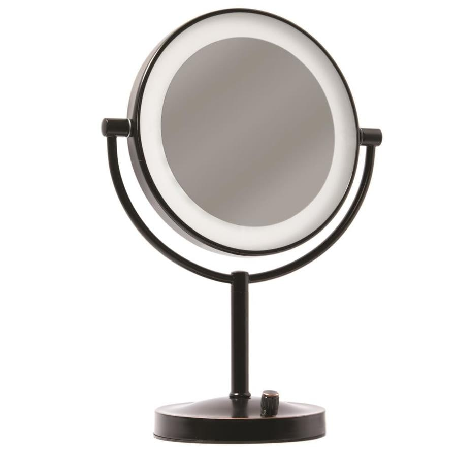 Giagni Vernon Bronze Zinc Magnifying Countertop Vanity Mirror With Light