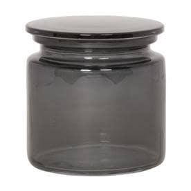 Giagni Smoke Glass Smoke Glass Bathroom Canister
