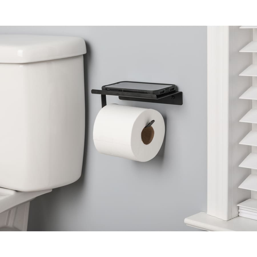 Giagni Matte Black Wall Mount Single Post Toilet Paper Holder In The Toilet Paper Holders Department At Lowes Com