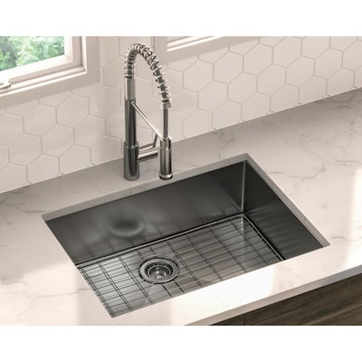 Trattoria 25 In X 22 Stainless Steel Single Bowl Drop Or Undermount 1 Hole Residential Kitchen Sink All One Kit