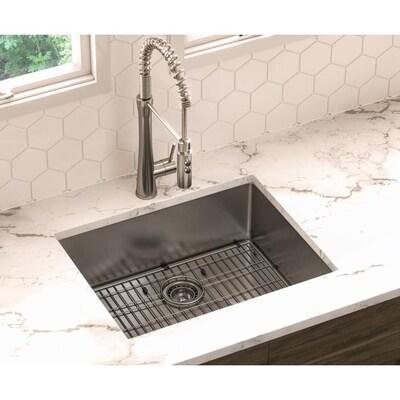 24-in x 19-in Stainless Steel Single-Basin Undermount Residential Kitchen  Sink