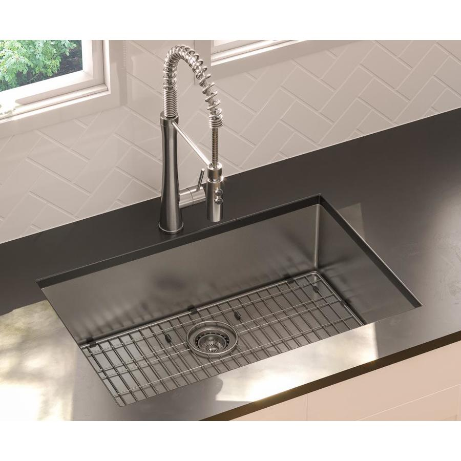 Giagni 30-in x 19-in Stainless Steel Single-Basin Undermount Residential Kitchen Sink