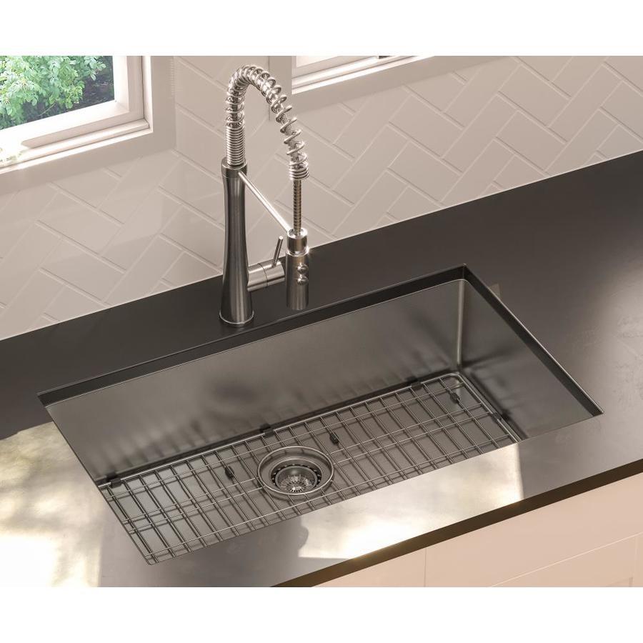 Kitchen Sink 19 X 33: Giagni 33-in X 19-in Stainless Steel Single-Basin