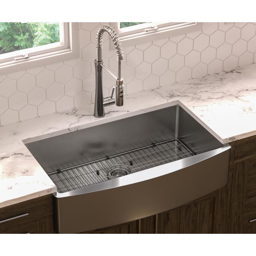 36 undermount kitchen sink shop giagni 36 in x 22 in stainless steel single basin 3884