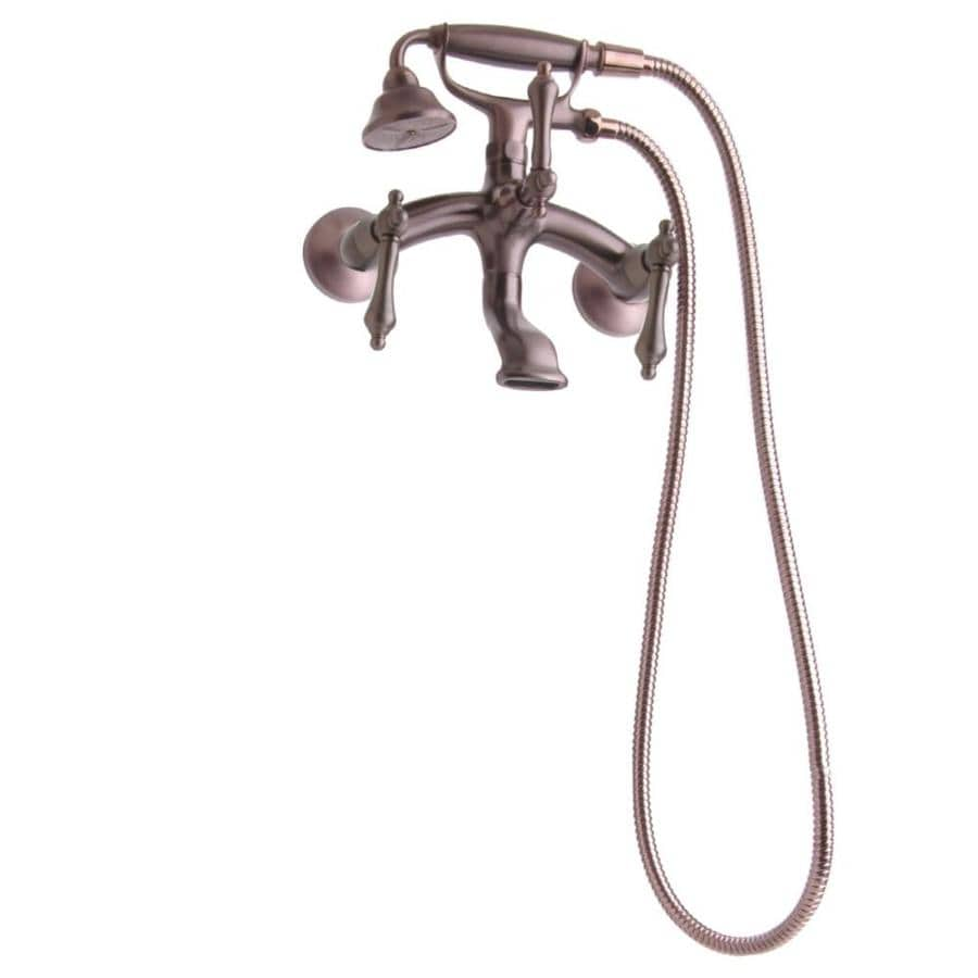 Shop Giagni Traditional Oil Rubbed Bronze 3 Handle Wall Mount Bathtub Faucet At