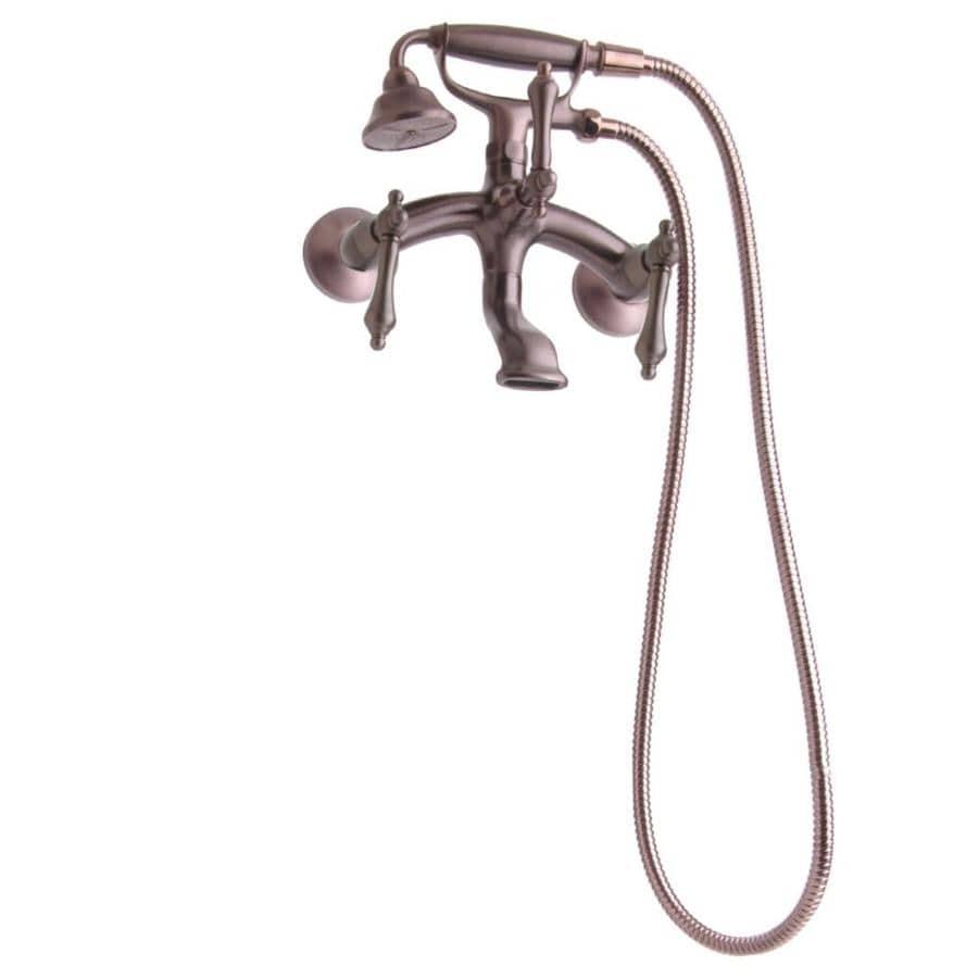 Shop Giagni Traditional Oil Rubbed Bronze 3 Handle Wall Mount Bathtub Faucet