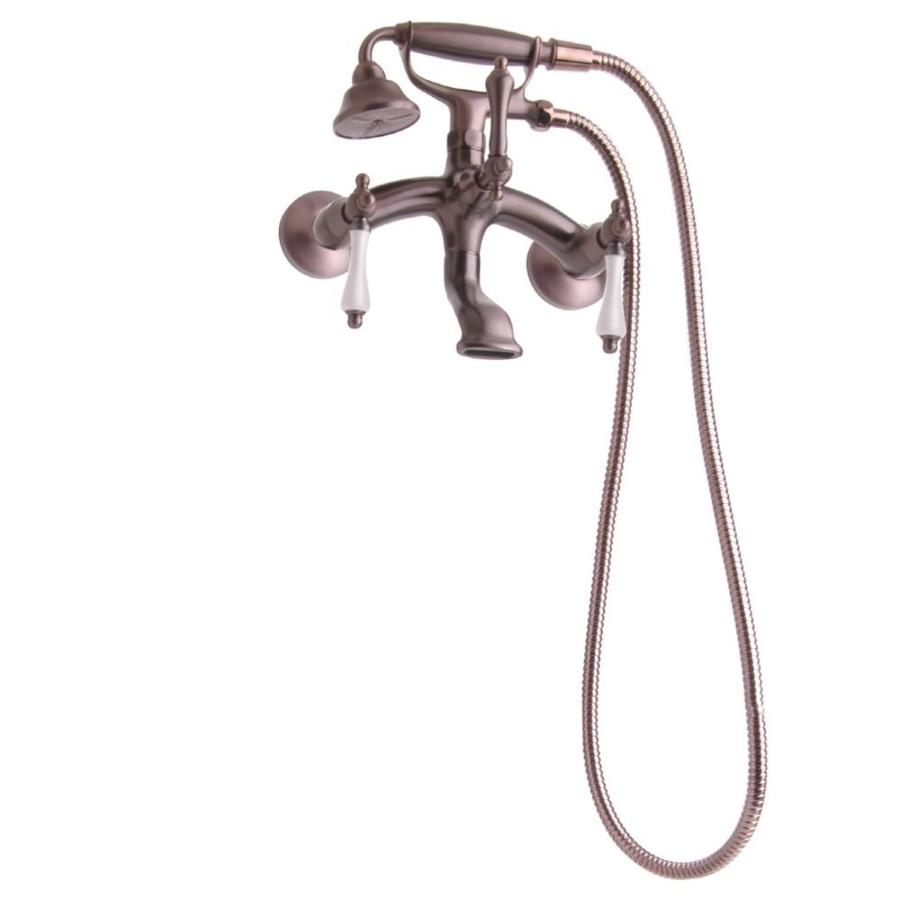 Giagni Traditional Oil Rubbed Bronze 3-Handle Wall Mount Bathtub Faucet