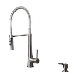 Giagni Fresco Stainless Steel 1-Handle Deck Mount Pre-Rinse Handle/Lever Kitchen Faucet (Deck Plate Included)